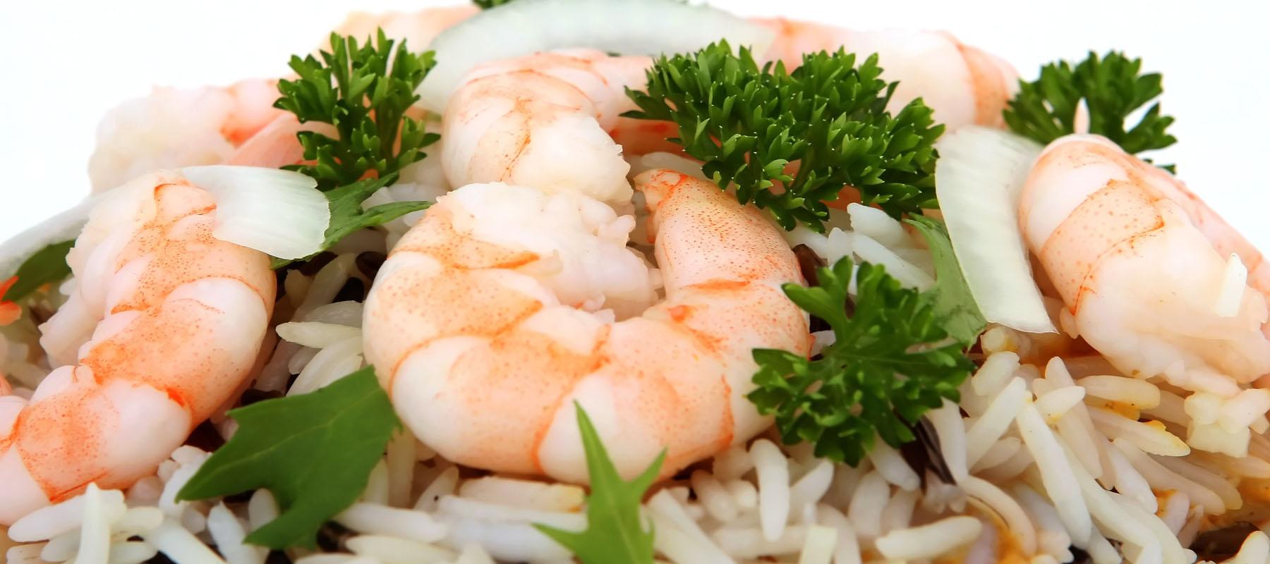 fresh oriental prawns